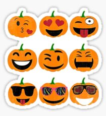 Emoji Pumpkin Halloween Sticker