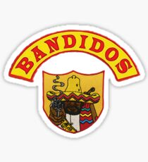 Bandidos Bandidos MC Front Jacket Biker Patch with Rocker Sticker