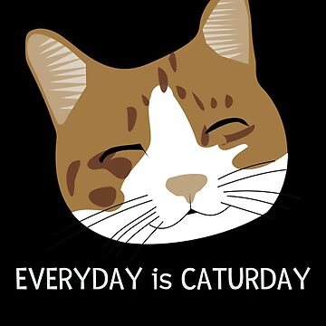 Everyday Is Caturday Cute Cat Pun by DogBoo
