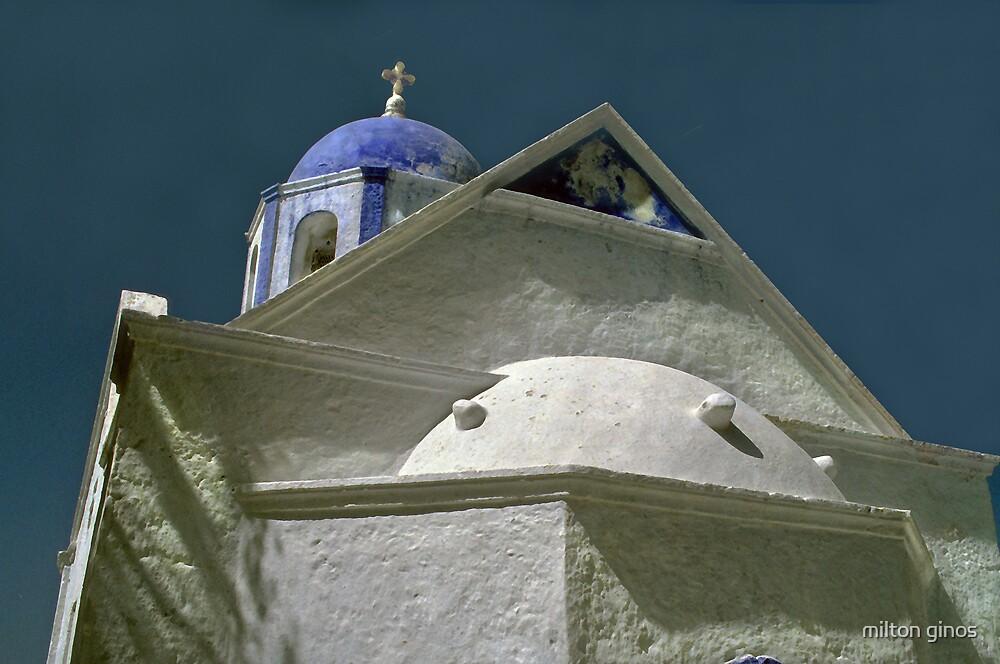 Church--Samos Greece by Milton Ginos