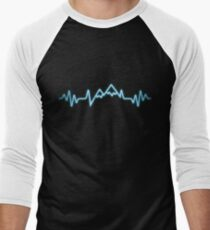 Mountain heartbeat gift Men's Baseball ¾ T-Shirt