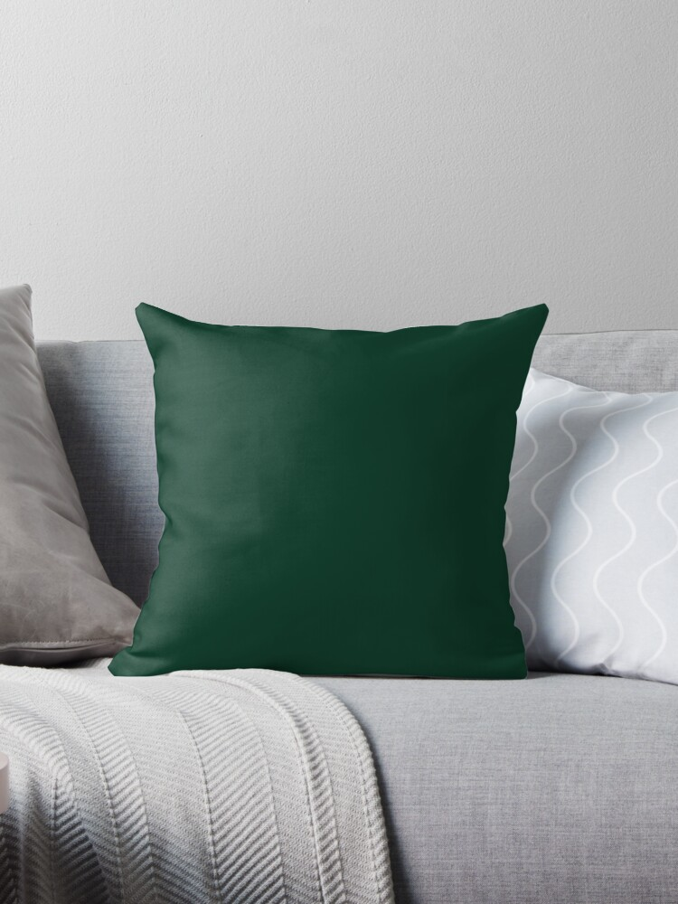 PLAIN SOLID COLOR DARK GREEN -  FESTIVE CHRISTMAS COLORS ACCENTS AND HUES  by ozcushions