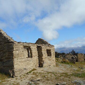 Roofless at Welshtown, Bendigo goldfield, central Otago, New Zealand by belvoir