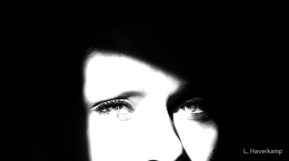 Just Me - Self Portrait. by L. Haverkamp