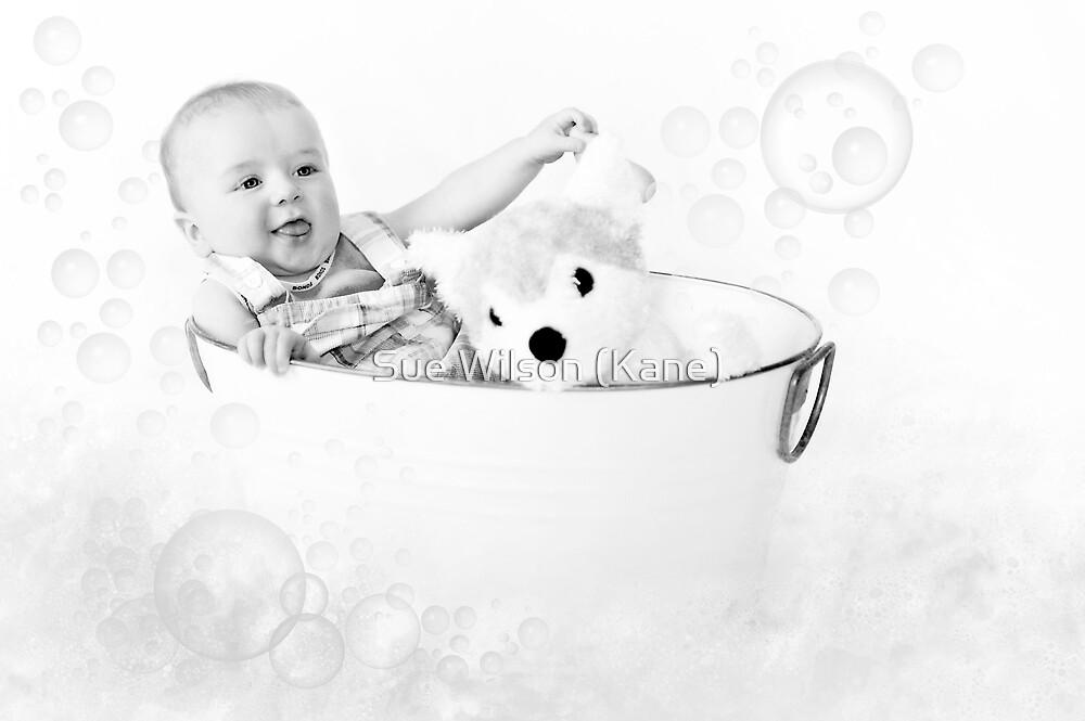 Washing my puppy! by Sue Wilson (Kane)