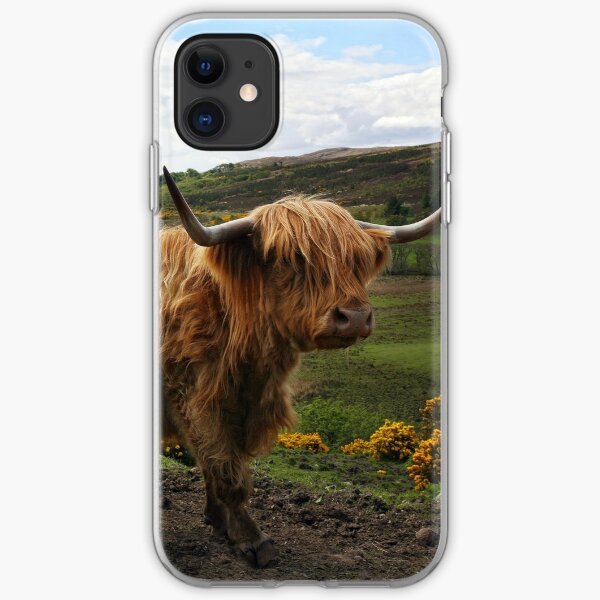 Highland Cow - Scottish Highland Cow iPhone Soft Case