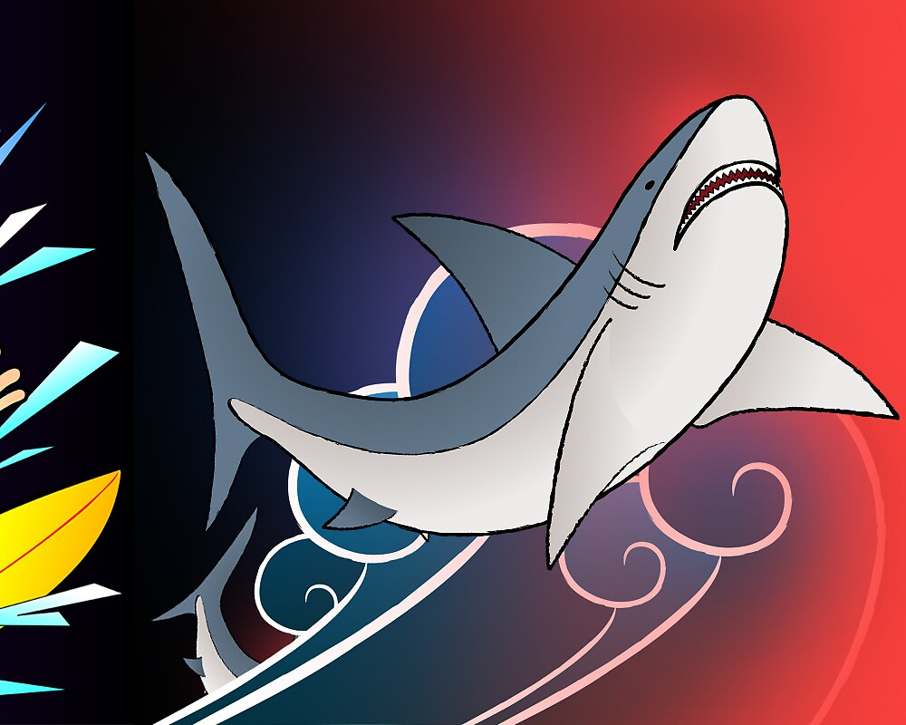 The Longest Illustration, Shark Attack by Luis Enrique Cuéllar Peredo
