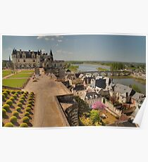 Landscaping at Amboise on the Loire Poster
