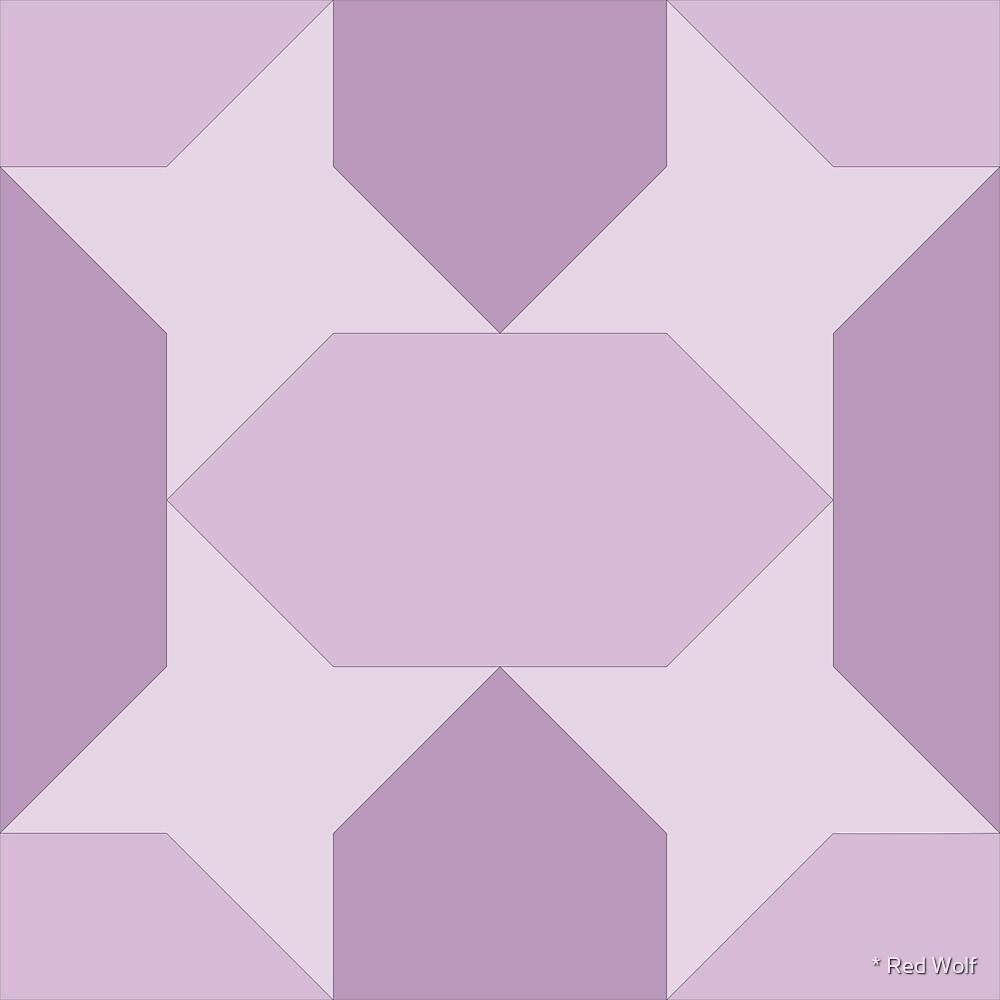 Geometric Pattern: Star Lozenge: Purple by * Red Wolf