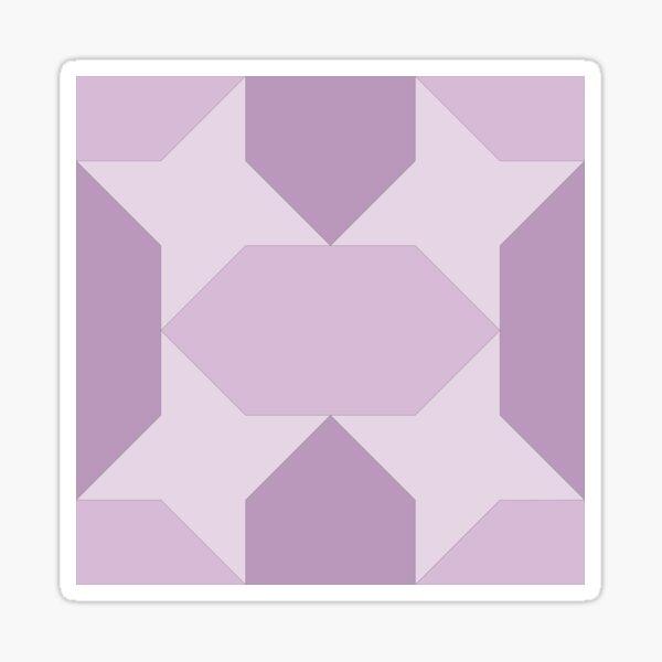 Geometric Pattern: Star Lozenge: Purple Sticker