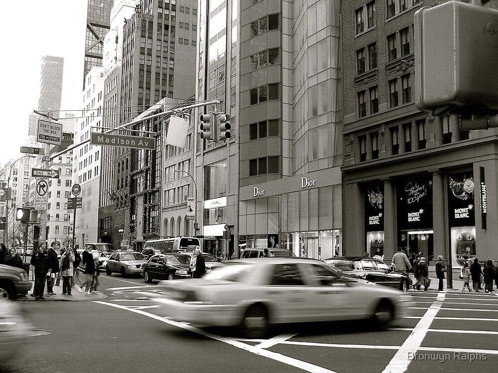 Madison Ave, New York by Bronwyn Ralphs
