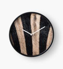 Zebra Fur Clock
