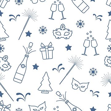 Seamless pattern with new year symbols. by aquamarine-p