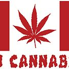 Oh Cannabis Canada Flag T-shirts  by EthosWear