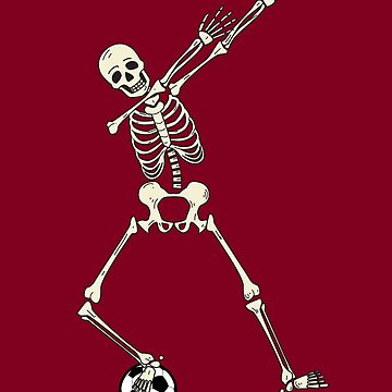 Dabbing Soccer Skeleton Halloween Art Cute Football Gift by NBRetail