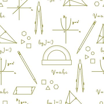 Mathematical scientific vector seamless pattern. by aquamarine-p