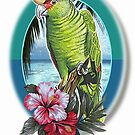 parrot hibiscus by cardtricks
