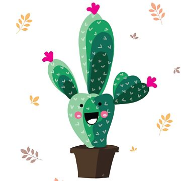 Cute Smiling Cactus Design - Funny Cactus Shirt by epicshirts