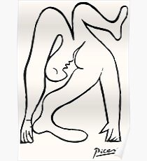 Pablo Picasso Le Acrobat, 1930, Artwork Reproduction, Tshirts, Prints, Posters For Men, Women, Youth, Kids Poster