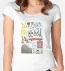 La La Land Illustration Jazz Saxophone Music Musical  Women's Fitted Scoop T-Shirt