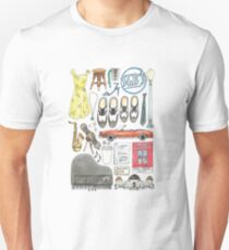 La La Land Illustration Jazz Saxophone Music Musical  Slim Fit T-Shirt
