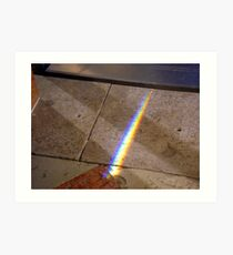 Rainbow on the floor Art Print