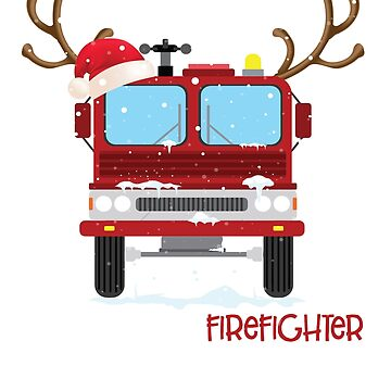 Just A Girl Who Loves A Firefighter Christmas T-Shirt by liuxy071195