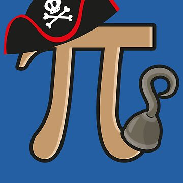 Pirate Pi Art | Cute Pie Math Wizards Design Gifts by NBRetail