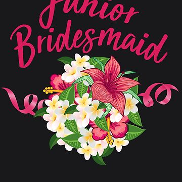 Junior Bridesmaid Art | Cool Young Maid of Honor Art Gift by NBRetail