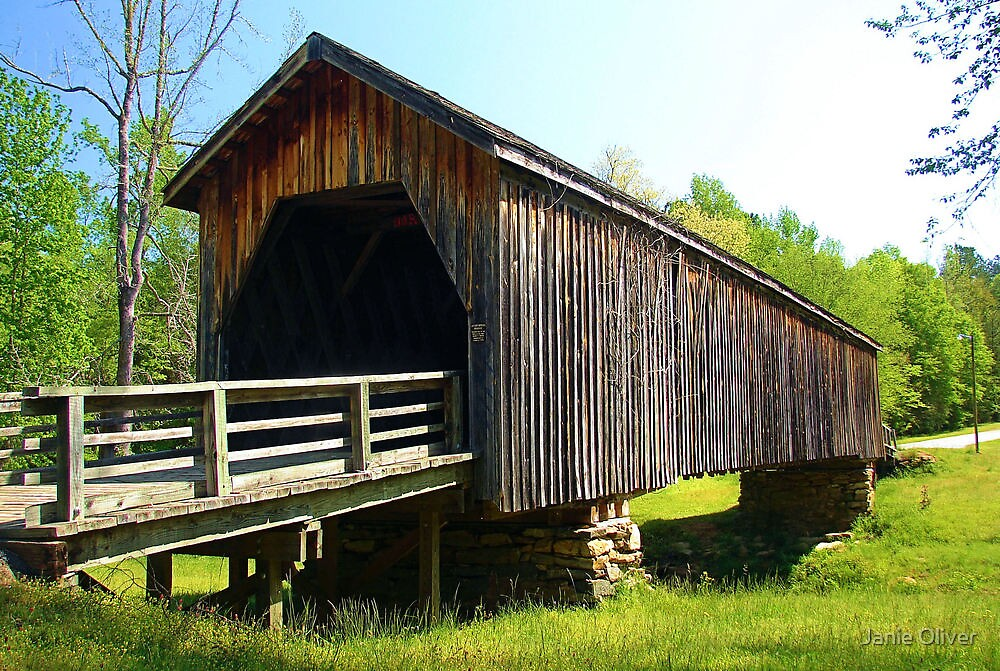 Auchumpkee Covered Bridge Upson County by Janie Oliver