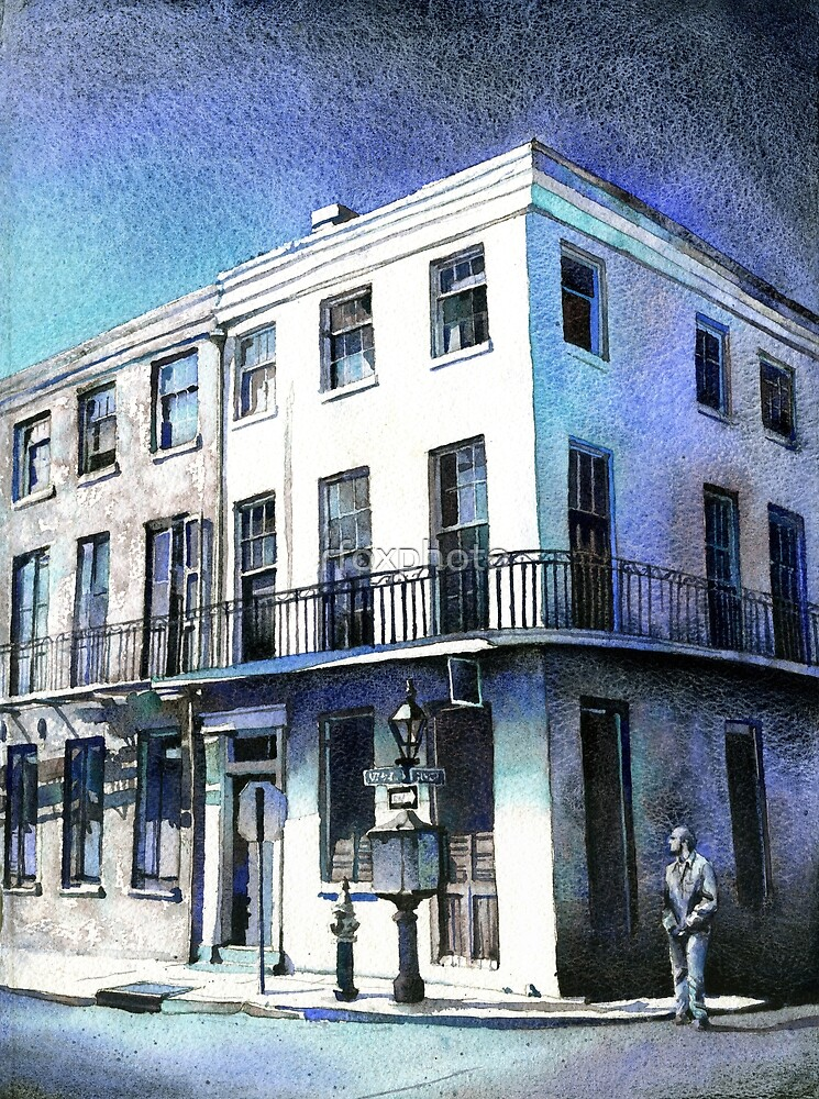 Colonial Architecture In French Quarter New Orleans Louisiana By