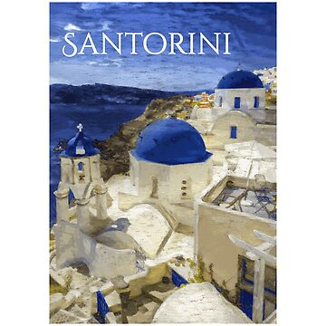 Santorini - Travel Poster Design by Chunga