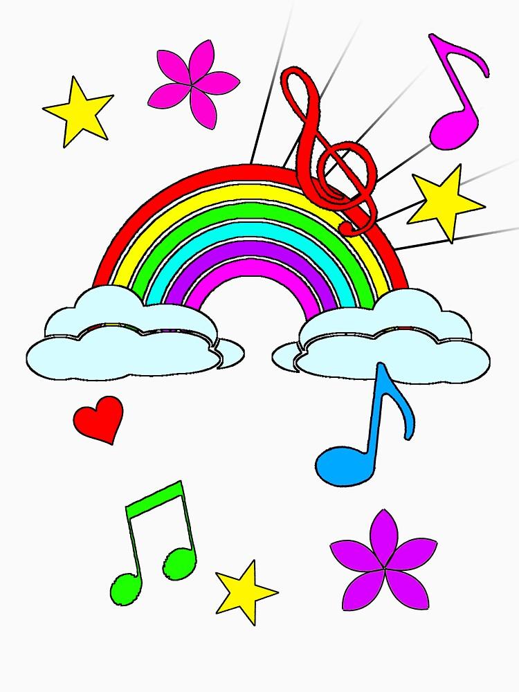 Pop rainbows music by kittiemeow
