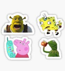 Pegatina set de pegatinas meme