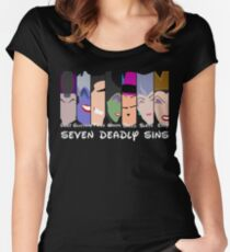 The Seven Deadly Villains  Women's Fitted Scoop T-Shirt