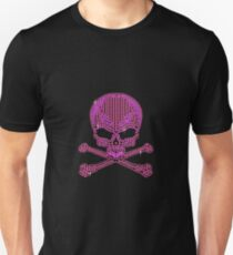 Pink Rhinestone Skull & Crossbones Unisex T-Shirt