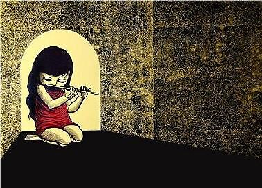 The Flute Girl #2 by Andre Tanama