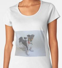 Jack Russell dog with Poppy Women's Premium T-Shirt