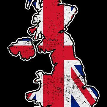 United Kingdom Flag Map by EddieBalevo