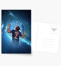 Kylian Mbappe PSG 'Universe' Artwork Design Postcards
