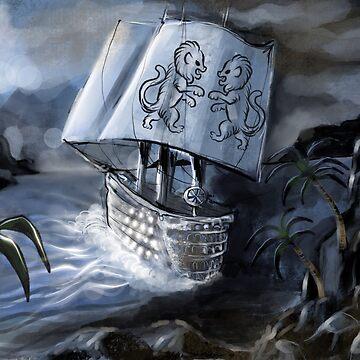 Ship at sea by Extreme-Fantasy