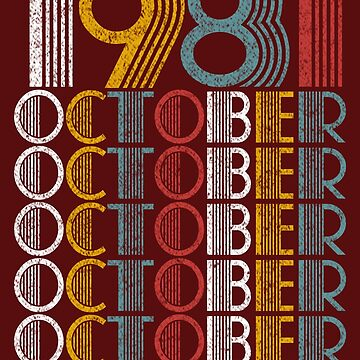 Vintage October 1981 Birthday Gifts by FiftyStyle