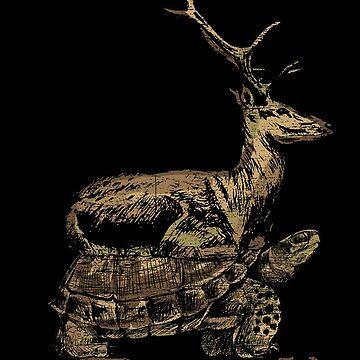 Deer turtle by GeschenkIdee