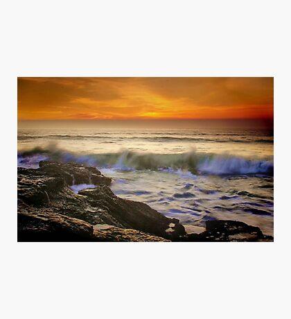 Sunset Wave Photographic Print