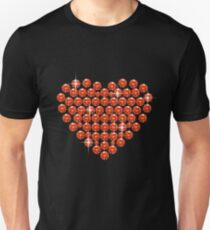 Sparkly Rhinestone Heart Unisex T-Shirt