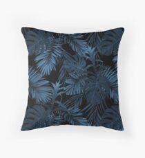 Dark indigo tropical Floor Pillow