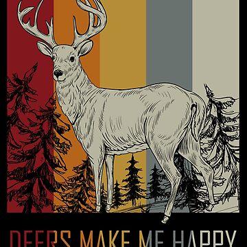 Deer animal lovers by GeschenkIdee