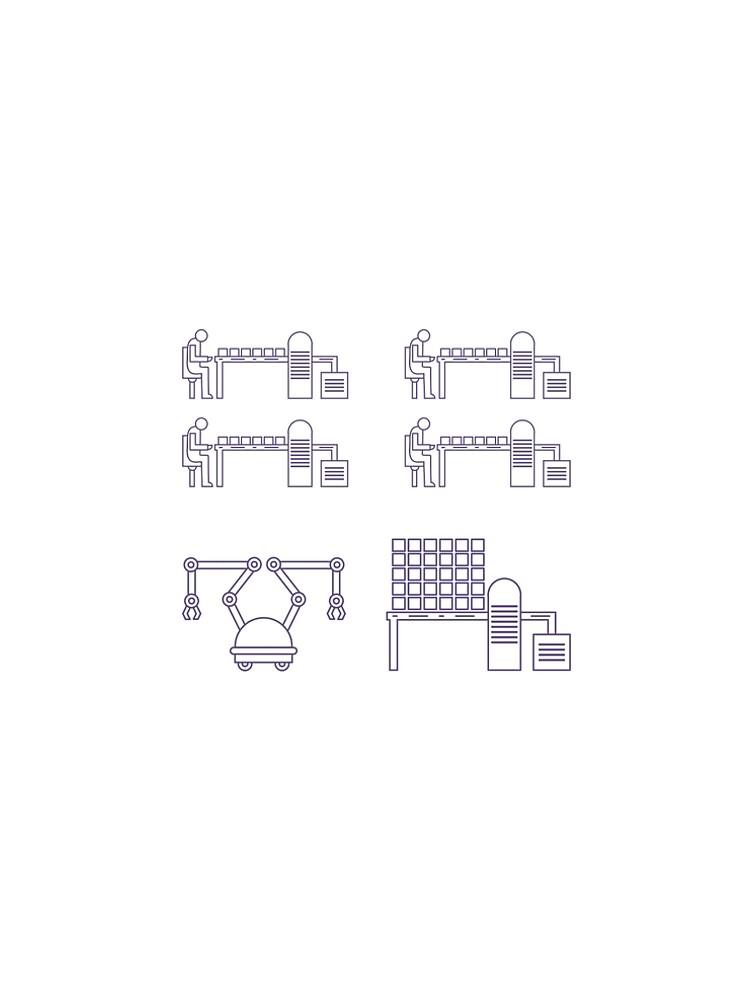 Smart automatic robotic production line. by aquamarine-p