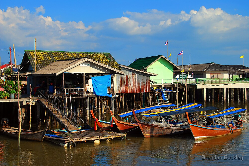 Thai Boats by Brendan Buckley