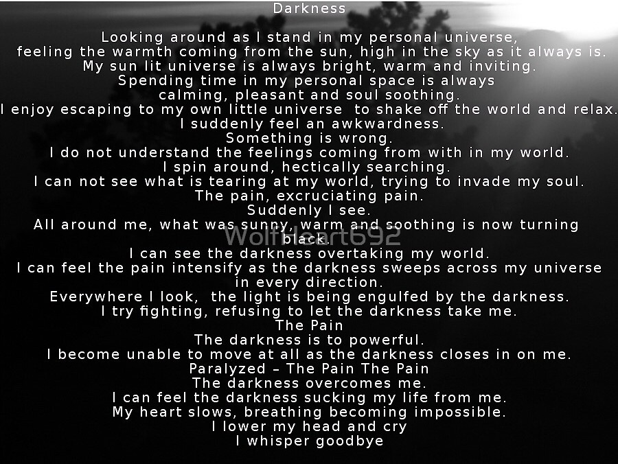 Darkness Poem by WolfHeart692